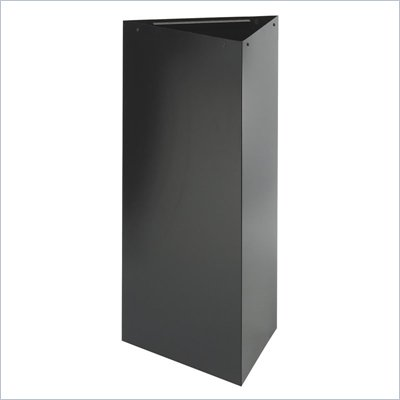 "Safco Trifecta Trash Can/Recycling receptacle w/ 38""H Base in Black"
