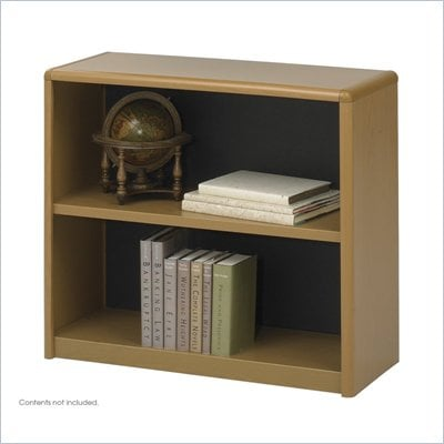 Safco 2-Shelf ValueMate Medium Oak Economy Steel Bookcase