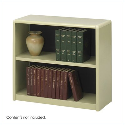Safco 2-Shelf ValueMate Sand Economy Steel Bookcase