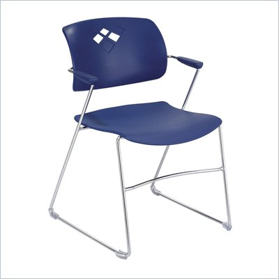 Safco Veer Stack Chair in Blue (Set of 4)