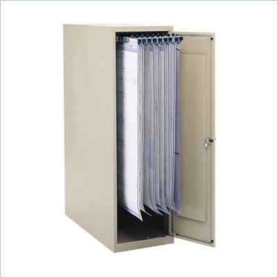 "Safco Large Vertical 1 Drawer Metal File Cabinet for 18"", 24"", 30"" and 36"" Hanging Clamps in Tropic Sand"