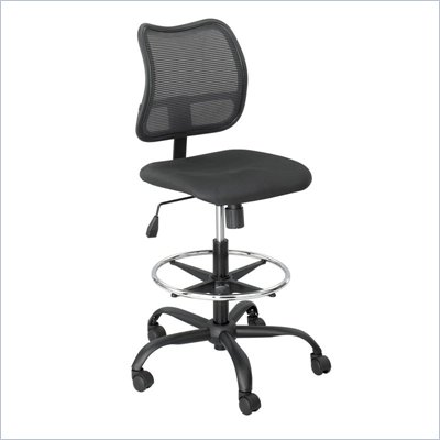 Safco Vue Extended Height Mesh Chair in Black