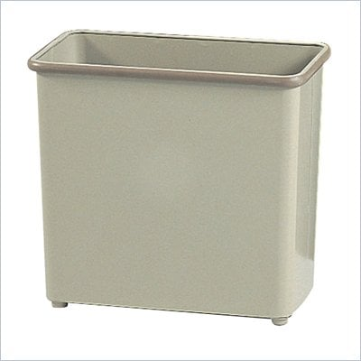 Safco Sand Rectangular Wastebasket 27.5 Quart (Set of 3)