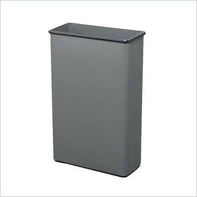 Safco Charcoal Rectangular Wastebasket, 88 Quart (Set of 3)
