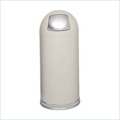 Safco Putty Push Door Dome Top Receptacles