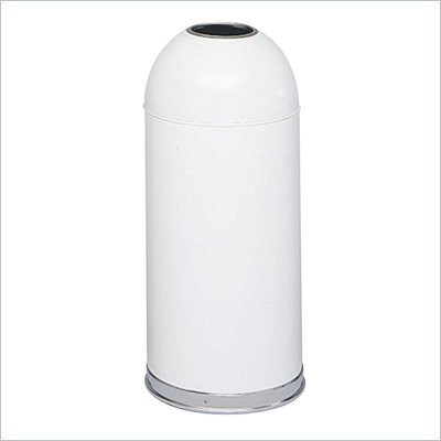 Safco White Open Top Dome Receptacle