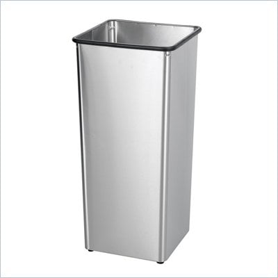 Safco Stainless Steel 21 Gallon Receptacle Base