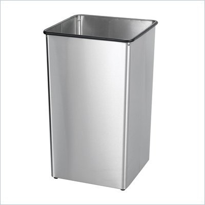 Safco Stainless Steel 36 Gallon Receptacle Base