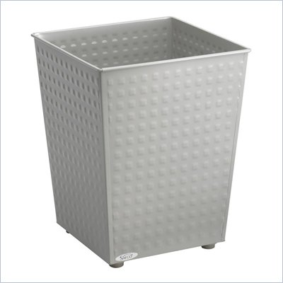 Safco Checks Wastebasket in Gray (Set of 3)