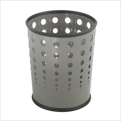 Safco Bubble Wastebasket in Gray, Set of 3
