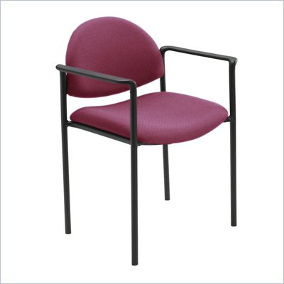 Safco Wicket Burgundy Stacking Chair with Arms