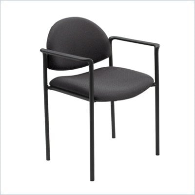 Safco Wicket Black Stacking Chair with Arms