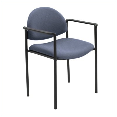 Safco Wicket Blue Stack Chair with Arms