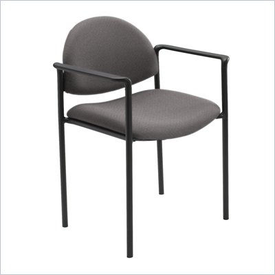 Safco Wicket Gray Stacking Chair with Arms