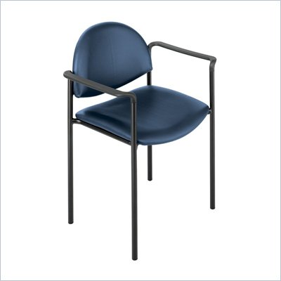 Safco Wicket Blue Arm Chair with Vinyl Seat