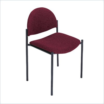 Safco Wicket Burgundy Stacking Chair