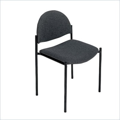 Safco Wicket Black Armless Stacking Chair