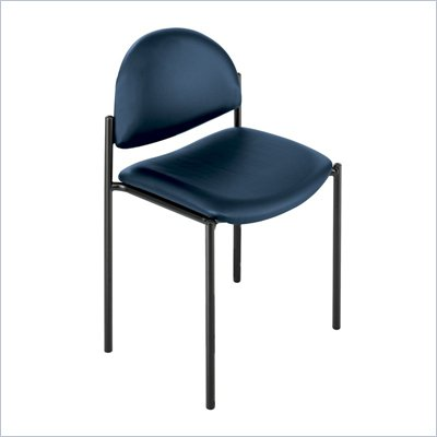 Safco Wicket Blue Stack Chair with Vinyl Seat