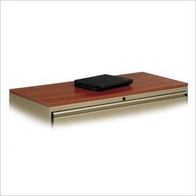 "Safco 36"" Laminate Top For Lateral Files in Cherry"