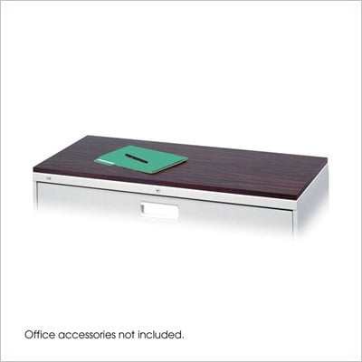 Safco Lateral File 42&quot;x19&quot; Mahogany Laminate Top