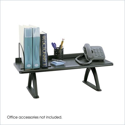 Safco Black 30&quot; Desk Riser