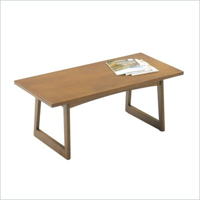 Safco Workspace Urbane Medium Rectangular Wood Oak Coffee Table in Wood Stain
