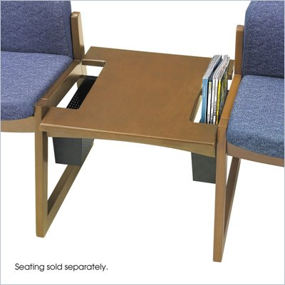 Safco Workspace Urbane Medium Oak Straight Connecting Table