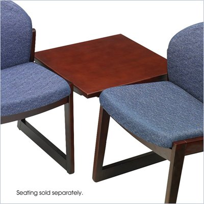 Safco Workspace Urbane Mahogany Corner Connecting Table
