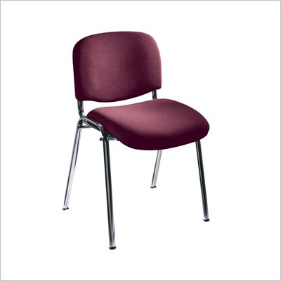 Safco Workspace Visit Upholstered Burgundy Stacking Chairs (Set of 2)