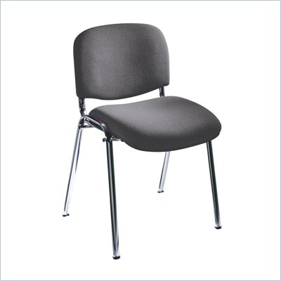 Safco Workspace Visit Upholstered Gray Stacking Chairs (Set of 2)