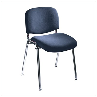 Safco Workspace Visit Upholstered Navy Stacking Chairs (Set of 2)
