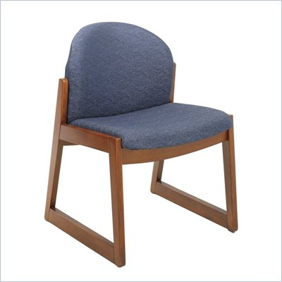 Safco Workspace Urbane Cherry and Blue Guest Chair with Sled Base
