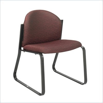 Safco Workspace Forge Collection Burgundy Single Chair with no Arms