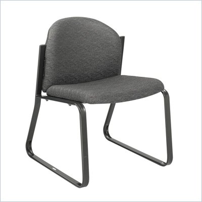 Safco Workspace Forge Collection Black Single Chair with no Arms