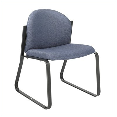 Safco Workspace Forge Collection Blue Single Chair with no Arms