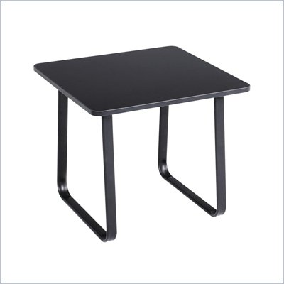 Safco Workspace Forge Collection Steel Black Corner Table