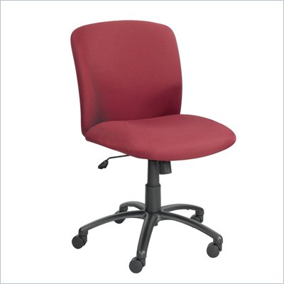 Safco Uber Big and Tall Mid Back Task Chair in Burgundy