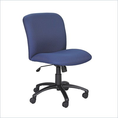 Safco Uber Big and Tall Mid Back Task Chair in Blue