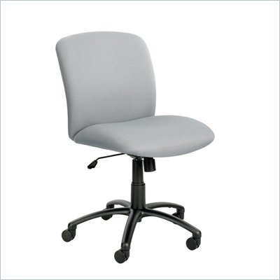 Safco Uber Big and Tall Mid Back Task Chair in Gray