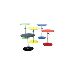 Eurostyle Rafaella Adjustable Glass End Table