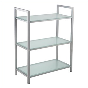 Eurostyle Marko 3 Shelf Storage Unit in Aluminum