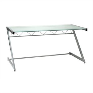 Eurostyle Zaki Deluxe Large Glass Top Computer Desk