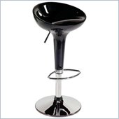 Eurostyle Ashby Adjustable Height Bar or Counter Stool in Black/Chrome