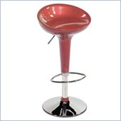 Eurostyle Ashby Adjustable Height Bar or Counter Stool in Red/Chrome