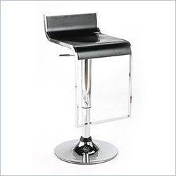 Eurostyle Foster Adjustable Bar Stool in Black