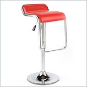 Eurostyle Fuller Height Adjustable Low Back Bar Stool in Red