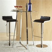 Eurostyle Ultima Glass Top Pub Table in Chrome