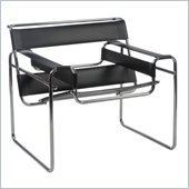 Eurostyle Wendel Lounge Chair in Black