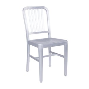Eurostyle Cafe Dining Chair in Matte Aluminum
