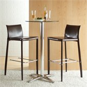 Eurostyle Shelby 30 Inch Seat Height Leather Bar Stool
